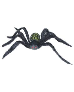GROßE GLITZER DEKO SPINNE Halloween Party Raumdeko Tischdeko Tarantel Dekoration