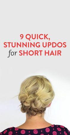 updos for short hair