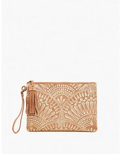 GOLDEN EMBROIDERY CLUTCH