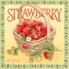 Artists Represented : Licensing Liaison : A Full Service Art Licensing Agency Strawberry Kitchen, Strawberry Farm, Strawberry Patch, Strawberry Recipes, Strawberry Shortcake, Vintage Labels, Vintage Postcards, Vintage Images, Vintage Pictures