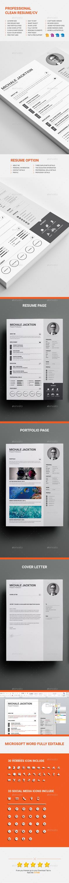 Clean Resume Download%0A Resume   Creative Resumes   Pinterest   Resume  Stationery and Resume  download