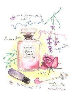 Fine Art Watercolor Original Illustration Print. Rose por Vianneart