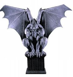 Stone Gargoyle Prop #Halloween #HauntedHouse Amazing gothic decoration