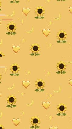 Pin on sunflower wallpaper Tumblr Wallpaper, Wallpaper Pastel, Iphone Wallpaper Yellow, Emoji Wallpaper Iphone, Cute Emoji Wallpaper, Disney Phone Wallpaper, Sunflower Wallpaper, Iphone Background Wallpaper, Aesthetic Pastel Wallpaper