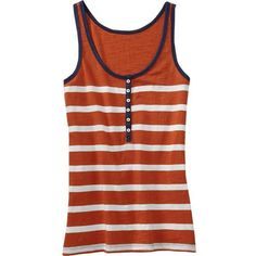 Old Navy Womens Striped Henley Tank Top found on Polyvore