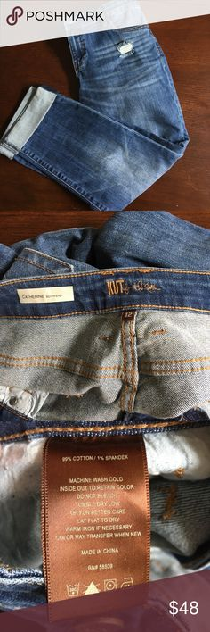 KUT boyfriend jeans NWOT NWOT washed once prior to trying on (sensitive skin) adorable Jennifer Aniston style boyfriend jeans. Purchased through private shopping site and love them. Purchased in a smaller size as I lost weight after buying :( see site's sizing info they are the Catherine style size 12 Kut from the Kloth Jeans Boyfriend