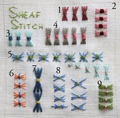 The Floss Box: summer stitch school
