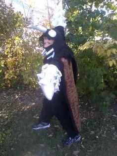 Luke's Halloween costume as Megalon 2013