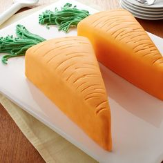 Carrot Cake - A classic carrot cake gets a new look with a simple butter-based fondant wrap.
