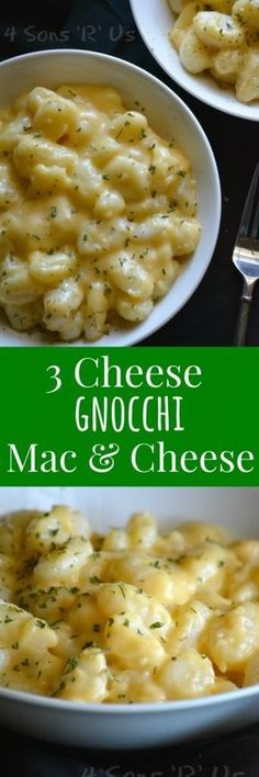 Easy. Peasy. And, yes, cheesy. (Sorry, had to go there. The rhyme was just too tempting.) This 3 Cheese Gnocchi Mac & Cheese is straight-up comfort food at it's best.  Two of my favorite things-- fluffy potato dumplings & cheese, both equally indulgent, in one fantastic dish? Yes, please!.