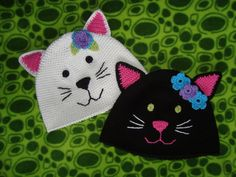 Kitty Cat Hat-free pattern by Woollywonderstuff                                                                                                                                                                                 More