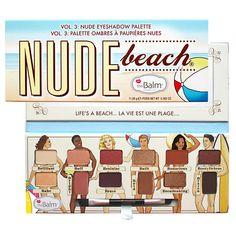 THE BALM Палетка теней Nude Beach