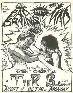 Bad Brains, The Mad punk hardcore flyer
