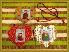 Santinhos para enfeitar e alegrar aquele cantinho ! by paloma bragança, via Flickr