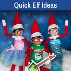 Quick elf ideas   Elf on the Shelf ideas   Elf ideas   Elf clothes Elf On The Self, The Elf, Good Elf Names, Popular Christmas Movies, Elf Clothes, Christmas Preparation, List Of Activities, Colourful Outfits, Colorful