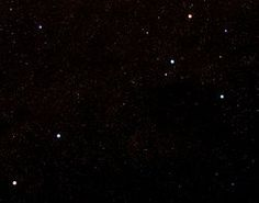 Looked up the Southern Cross (which have never seen) and fond it referred to as Crux. |  The five brightest stars in Crux are clearly visible in the top right. The red giant Gacrux and orange giant Epsilon are distinctly different from the three other major stars of the constellation, which are blue-white in colour.