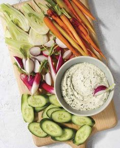 Creamy Herb Dressing or Dip - This vegan creamy dressing from Megan Gilmore's No Excuses Detox book is so decadent you'd never know it was dairy-free!