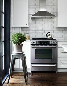 Subway tiles in the kitchen