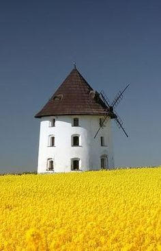 Windmill at Vrátno (Central Bohemia), Czechia