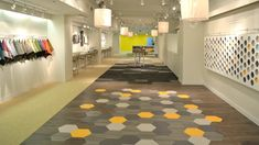 Where else can you get such bright color in hexagonal shapes? It's gotta be resilient-vinyl!