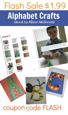 Letter Crafts - get ready for school this fall with FUN hands on letter activities. Includes great tips for parents too.