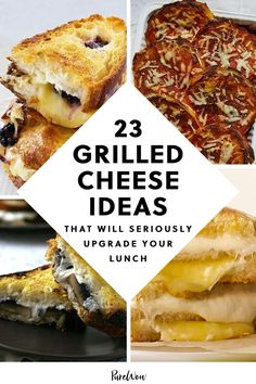 We'll never get over this sandwich. Here are 23 grilled cheese ideas that ensure you'll never have a sad desk lunch again, whether you're working from home or brown-bagging it. #grilled #cheese #ideas Cooking Cheese, Cheese Food, Easy Cheese, Cooking Food, Easy Cooking, Rainbow Grilled Cheese, Goat Cheese Sandwiches, Easy Dinner Recipes, Easy Dinners
