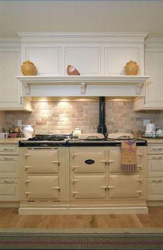 """48"""" stove with Mantel for seasonal decor"""