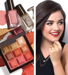 Lucy Hale wearing mark Tool Around Ring Set and Box Set Necklace + new beauty! @lucyyhale