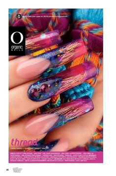 The nails are head on with the inspiration item shes holding. Laura Vargas/ ProMaster Organic® Nails