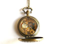 Doctor Who Pocket Watch Necklace by BLUENIGHTJEWELRY