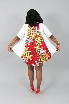 African clothing: NEW sale The BUXTON TOP african by Nasbstitches