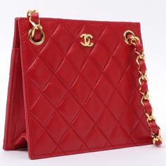 c74448bc2878 CHANEL Square Design Mini CC Mark Plate Chain Bag Red|VINTAGE QOO  TOKYO|ヴィンテージ