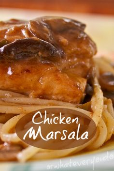 My favorite Chicken Marsala, via my awesome mother-in-law and sister-in-law...  http://www.orwhateveryoudo.com/2011/08/my-favorite-chicken-marsala-via-my-awesome-mother-in-law-and-sister-in-law.html?utm_campaign=coschedule&utm_source=pinterest&utm_medium=Nicole%20at%20OrWhateverYouDo%20(Recipes%20from%20Our%20Partners)&utm_content=My%20favorite%20Chicken%20Marsala%2C%20via%20my%20awesome%20mother-in-law%20and%20sister-in-law...