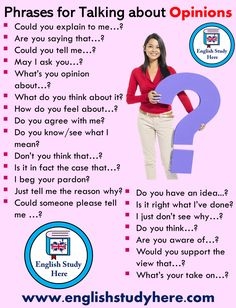 Phrases for Talking about Opinions - English Study Here English Grammar Tenses, Teaching English Grammar, English Sentences, English Writing Skills, English Vocabulary Words, English Phrases, Learn English Words, English Language Learning, English Study