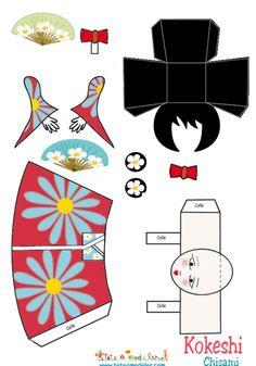 coloriage Kokeshi Chisami