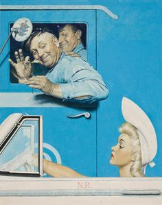 Norman Rockwell (1894-1978), The Flirts, The Saturday Evening Post, July 26, 1941