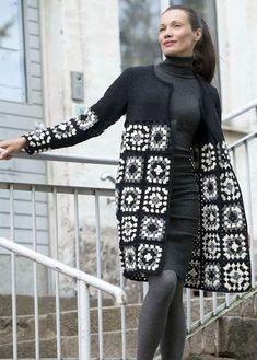 Transcendent Crochet a Solid Granny Square Ideas. Inconceivable Crochet a Solid Granny Square Ideas. Cardigan Au Crochet, Gilet Crochet, Crochet Coat, Crochet Jacket, Cardigan Pattern, Crochet Shawl, Crochet Clothes, Jacket Pattern, Poncho Shawl