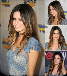 black to school hairstyles The Best and Brilliant Way to Color Your Hair: Brunette Hair Extensions rachel brunette medium ombre hairstyle with best clip in human hair extensions