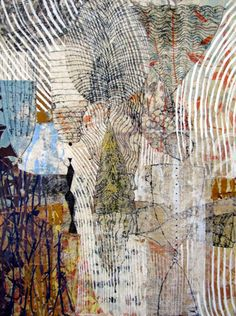 """Eva  Isaksen - Lightly Collage 48x36"""" Butters Gallery - $3,700"""