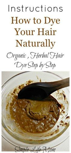 How to Dye Your Hair Naturally Step by Step Detailed instructions on how to dye your hair naturally with henna and other natural hair dyes like indigo, chamomile, and teas. Natural, organic hair dye - Station Of Colored Hairs Organic Hair Dye, Dyed Natural Hair, Natural Hair Care, Natural Hair Styles, Natural Beauty, Natural Red, Diy Hair Dye, Dyed Hair, Homemade Hair Dye