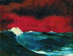 Emil Nolde (German-Danish, 1867 - Sea (I), Nolde (German~Danish Emil Nolde, Berlin Museum, Illustration Art, Illustrations, Magritte, Kandinsky, Photo Instagram, Oeuvre D'art, Nature