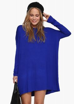 The Necessary Basic Dress in Cobalt blue