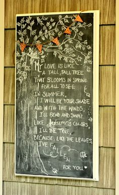 Fall: In Love >> chalkboard art
