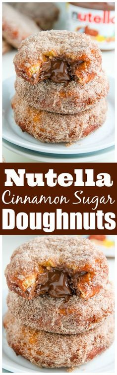 No Bake: Nutella Cinnamon Sugar Doughnuts - Baker by Nature...