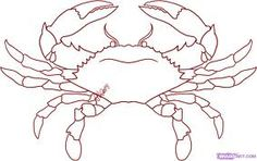 How to Draw a Crab, Step by Step, Sea animals, Animals, FREE Online Drawing… Art Lessons, Online Drawing, Aboriginal Art, Fish Art, Dot Painting, Art Drawings, Drawings, Crab Art, Crab Painting