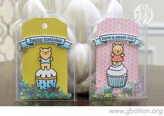 jj bolton {handmade cards}: Envelope Shaker Tags with The Greeting Farm