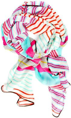 Stripes & Bars Chiffon Scarf (and more affordable Mother's Day gift ideas) http://www.savvygirllife.com/2014/04/cool-and-affordable-gifts-for-mom.html