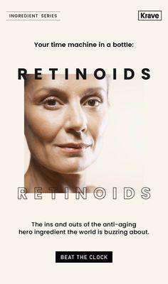 Ingredient Series: Retinoids to the Rescue Email Newsletter Design, Email Newsletters, Email Web, Web Instagram, Anti Aging, My Design, Promotion, Skincare
