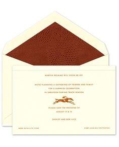 Equestrian Ecru Announcements - Crane & Co. (#81110) | FineStationery.com