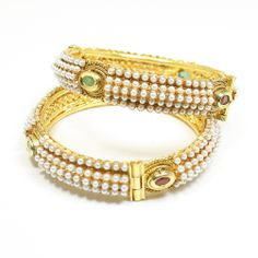Jodha Akhbar Bangles Studded with Pearl and Polki Stone Gold Plated Adjustable - REG $50 Click link to buy it at discount price on Amazon http://www.amazon.com/Akhbar-Bangles-Studded-Plated-Adjustable/dp/B00K0PC6JI/ref=sr_1_8?m=A2UYBK7JM011BH&s=merchant-items&ie=UTF8&qid=1399572338&sr=1-8